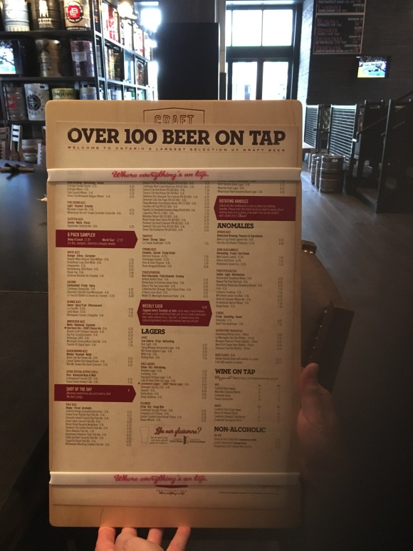 Some of the beers on tap